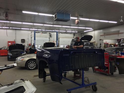 Hilltop Collision Inside Shop with mechanics